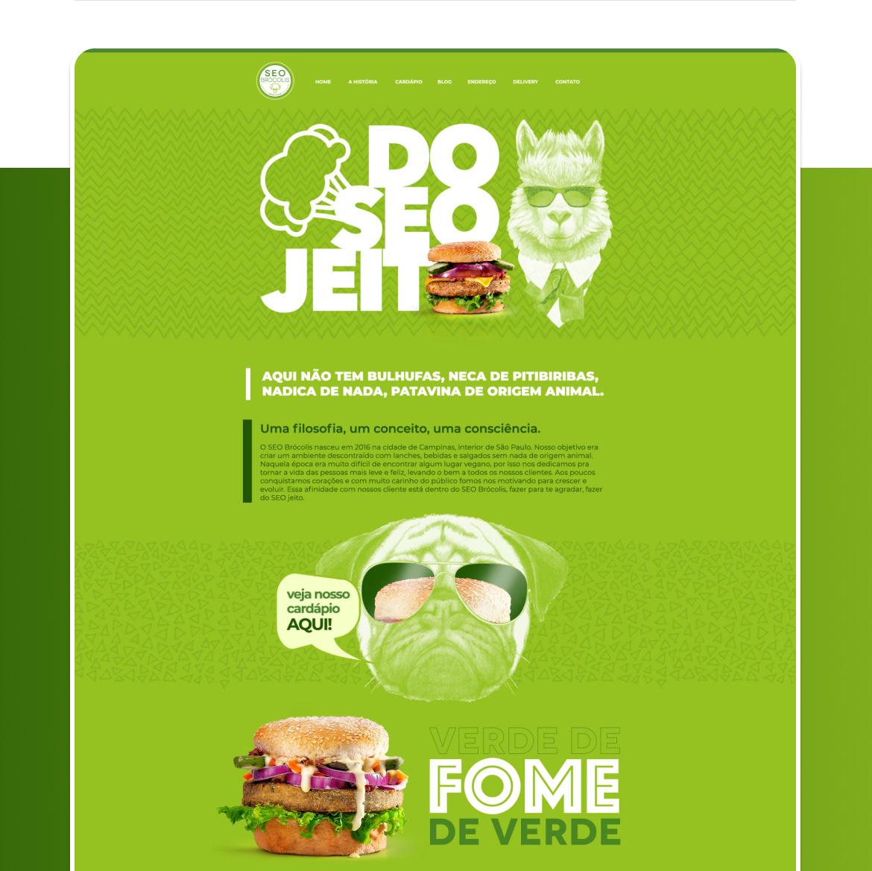 fastfood Figma photoshop uidesign vegan Website wordpress