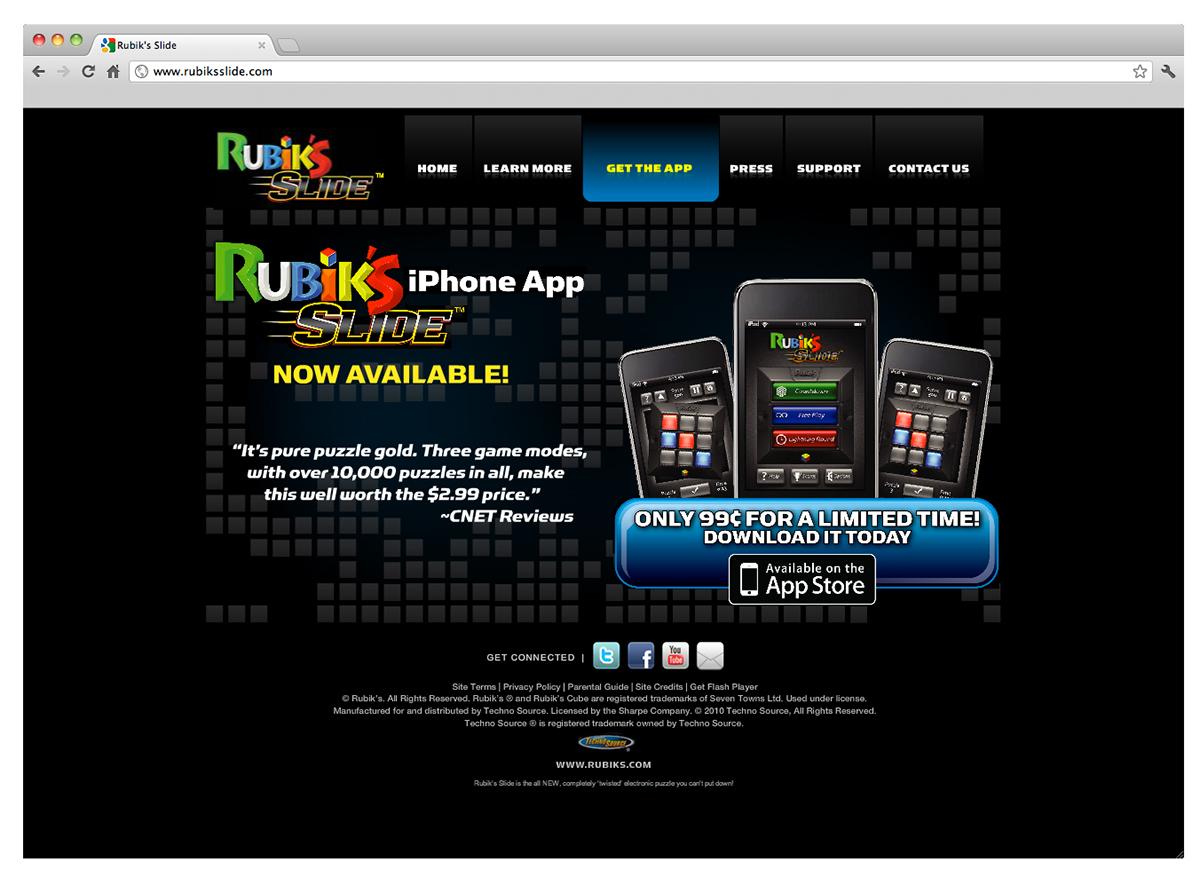 Rubik's Slide | Electronic Game on Behance