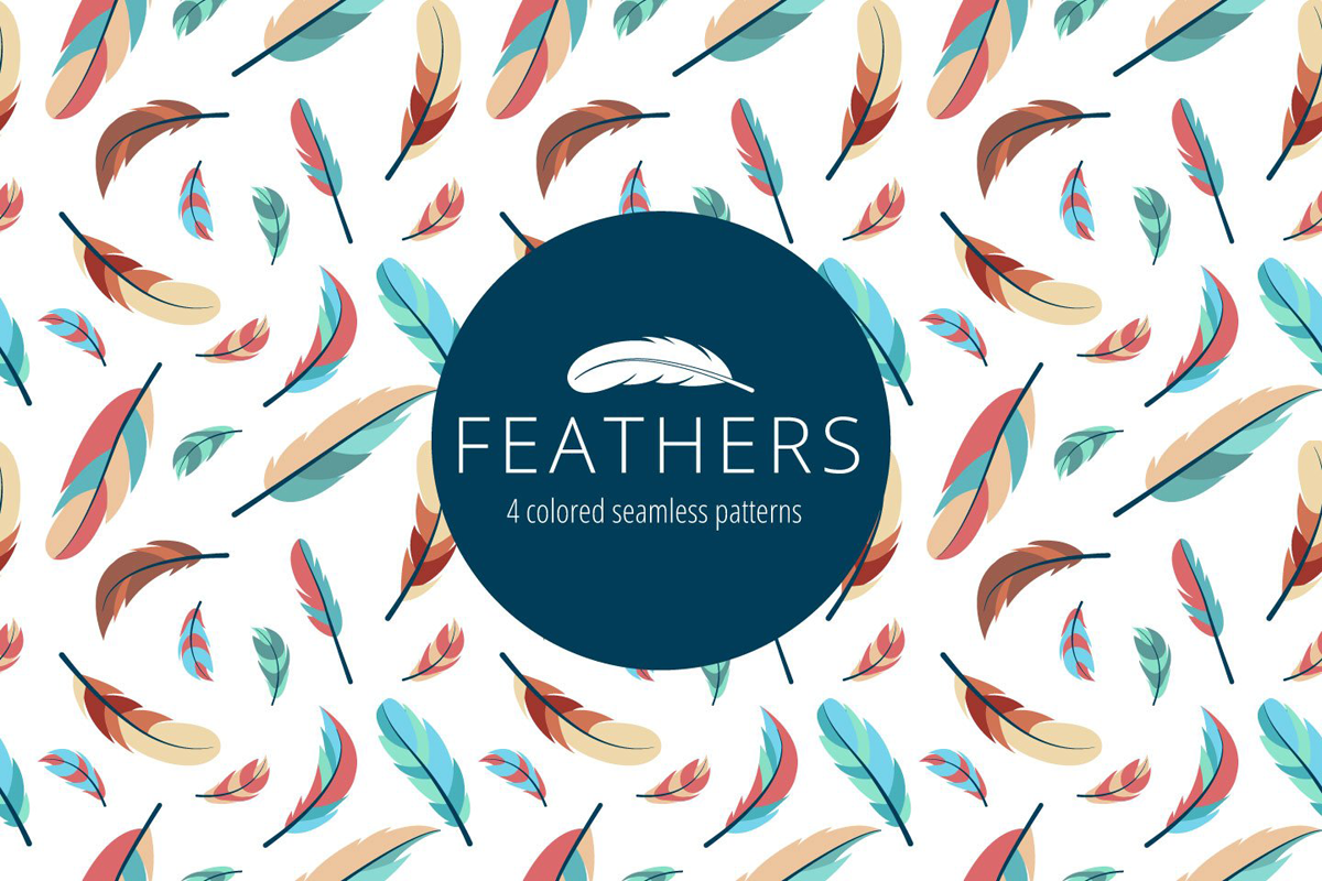 Feathers Vector Free Seamless Pattern on Behance