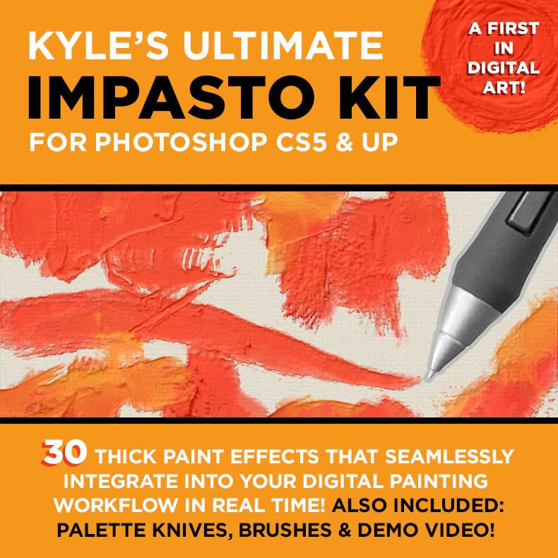 Kyle's Impasto Kit for Photoshop! on Behance