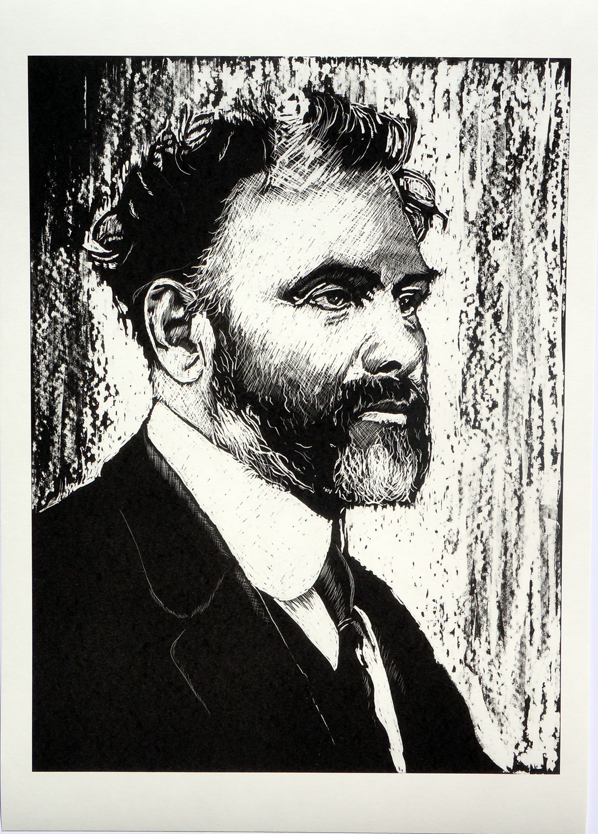 tribute salvadore dali frieda kahlo Gustav Klimt Amedeo Modigliani black and white portrait poster
