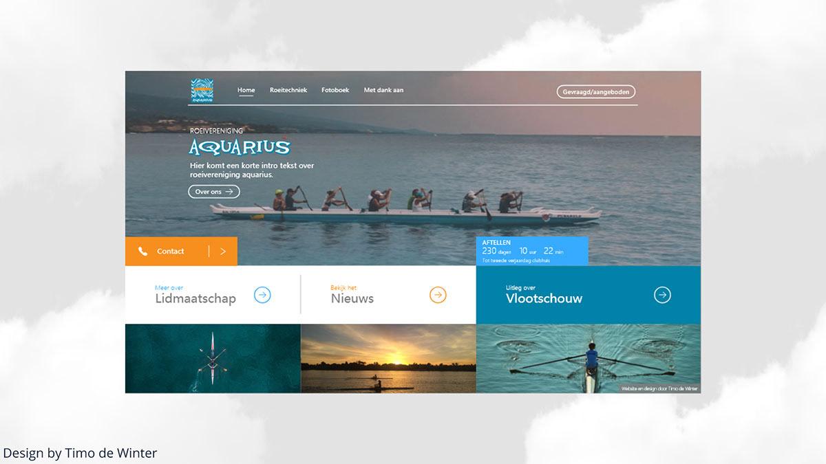 Rvaquarius Ui Design Rowing Club Webdesign On Behance