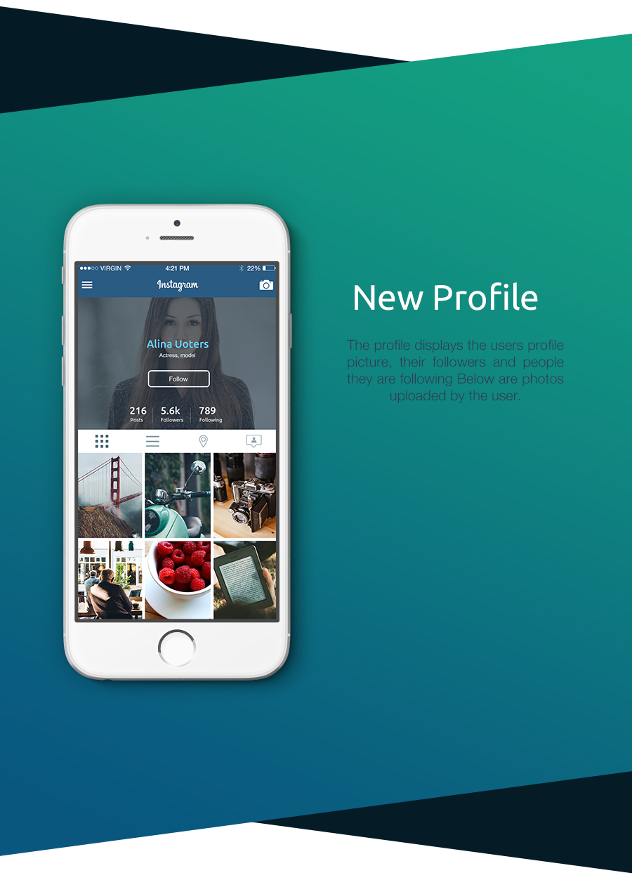 UI ux app ios android iphone instagram new