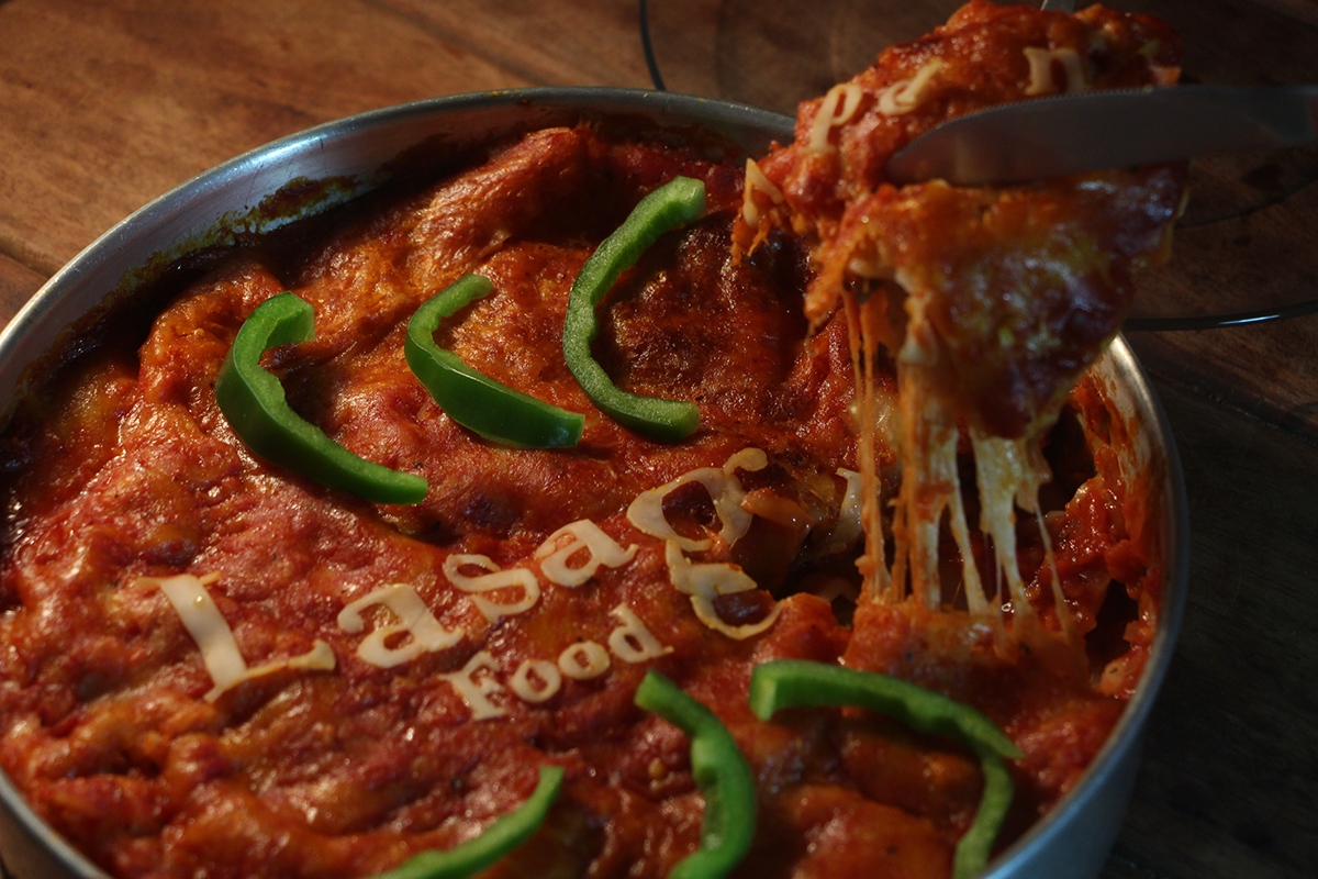 bodoni Lasagna food photography