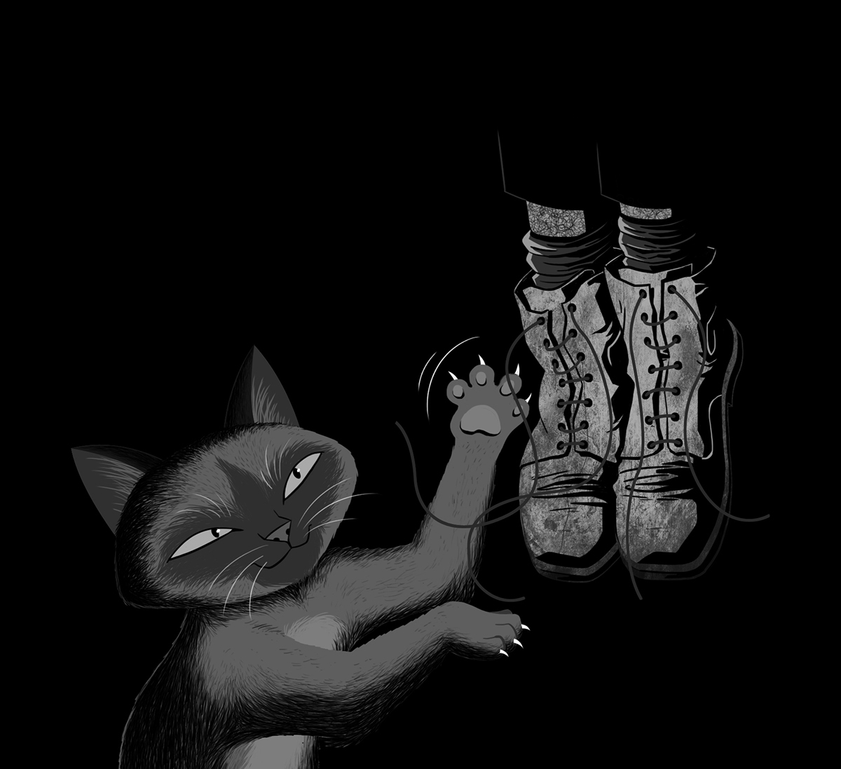 Picture book cats ink horror black & white lighting characters book cover cover editorial cover design comic dark literature sketches
