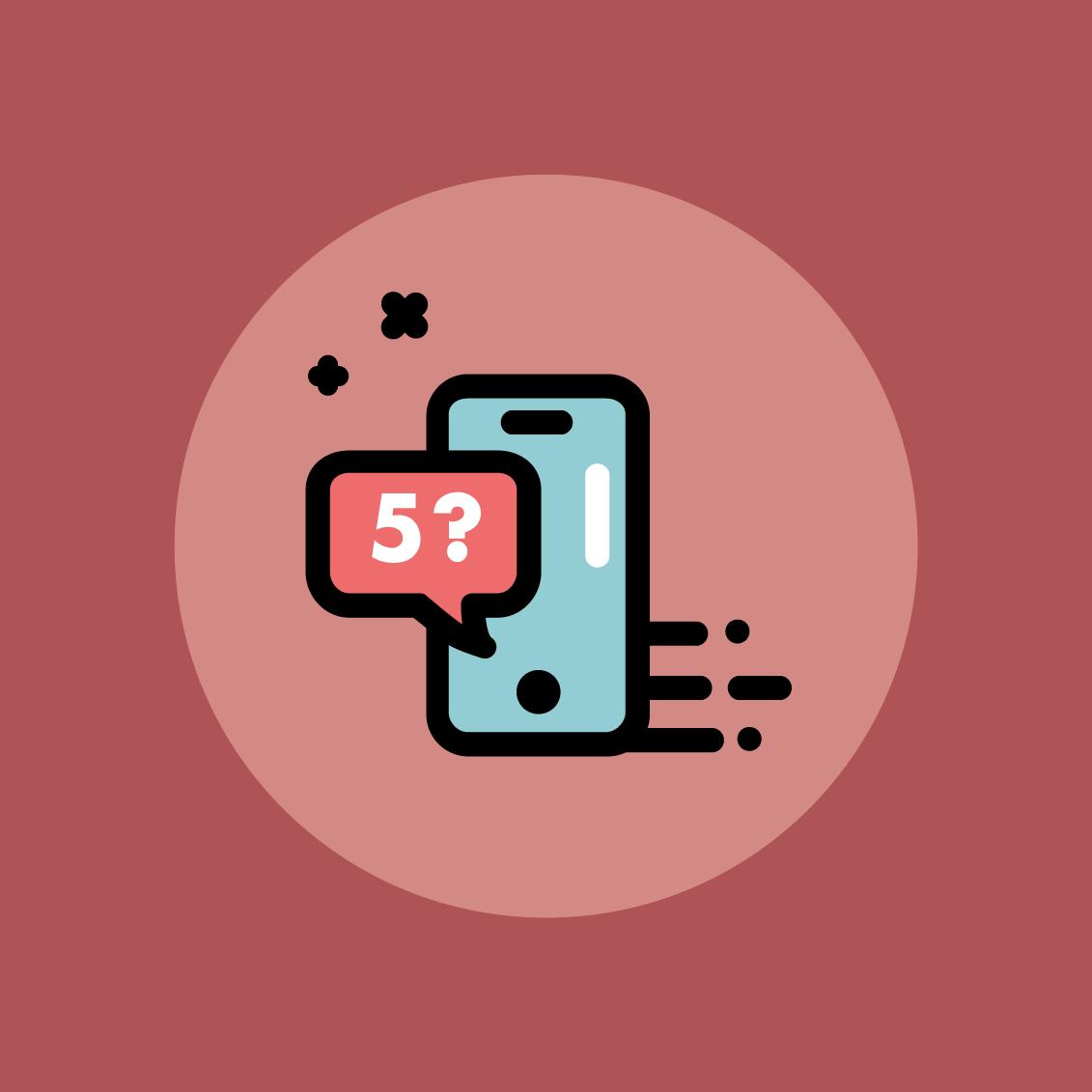 Icon set outline flat design cute icons app