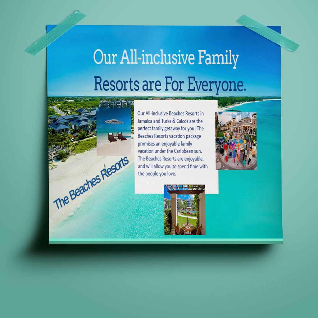 family vacation flyer on behance
