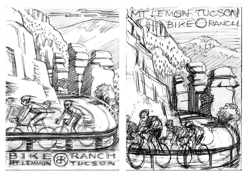 Poster concepts in pencil