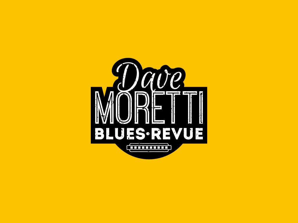 dave moretti blues revue harmonic armonic grunge logo cd vintage old style
