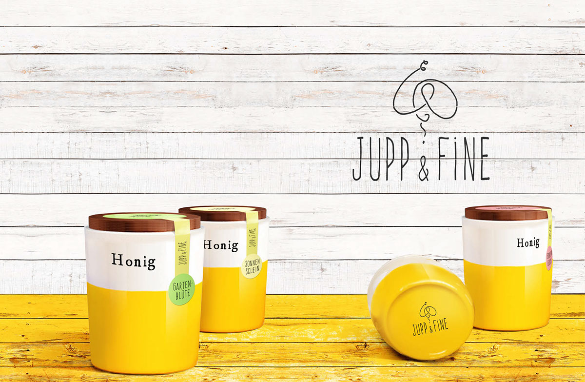 packaging design honey yellow verpackung