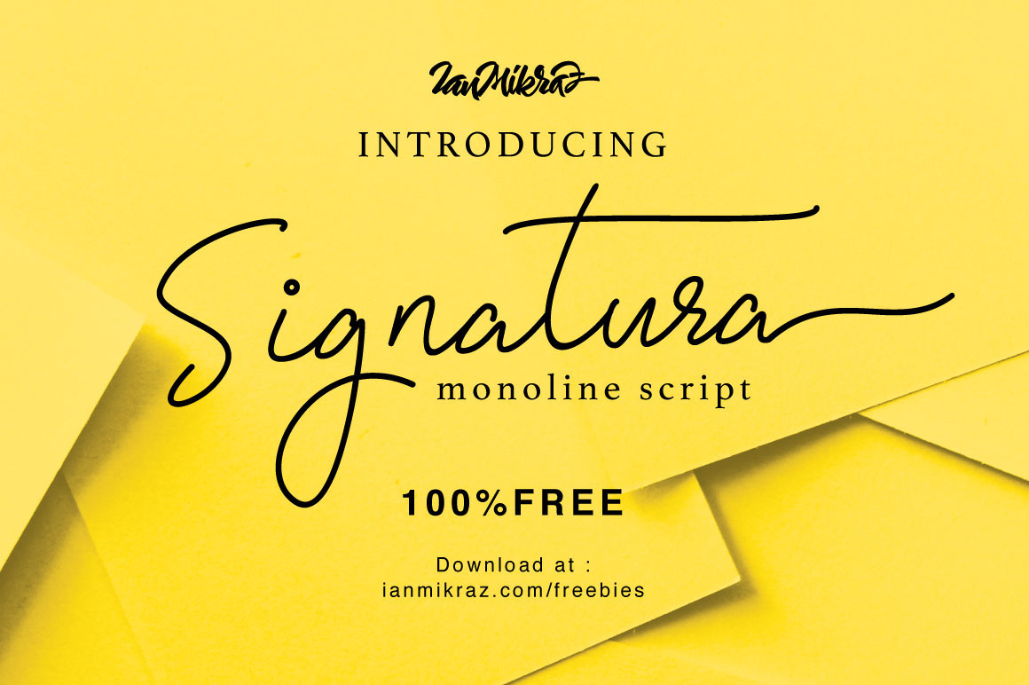 calligraphy fonts free download for photoshop signatura monoline script free font on behance 25507 | 0bc4e047775793.5884ef2dc8f17