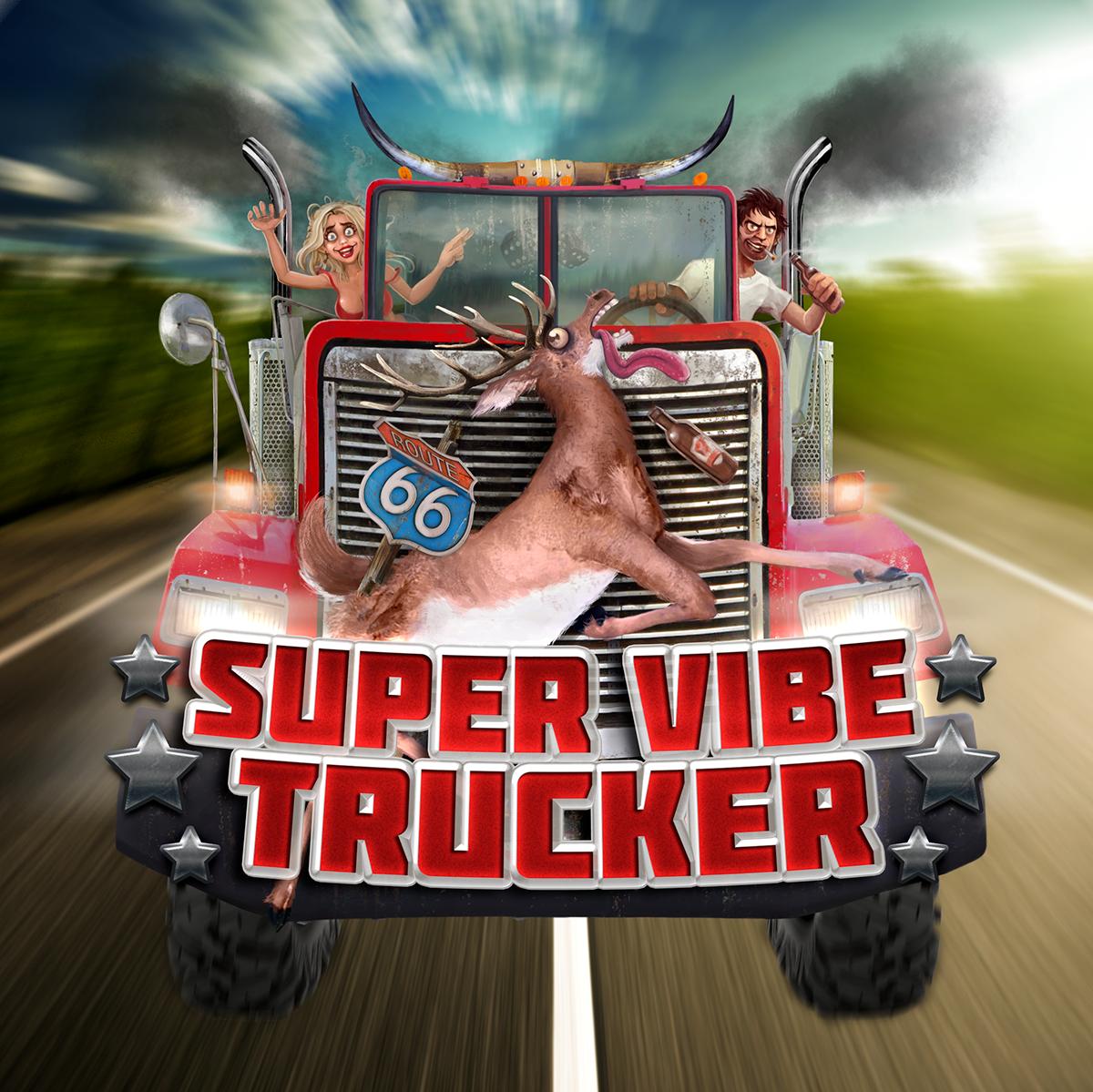 Super Vibe Trucker® Band Artwork on Wacom Gallery