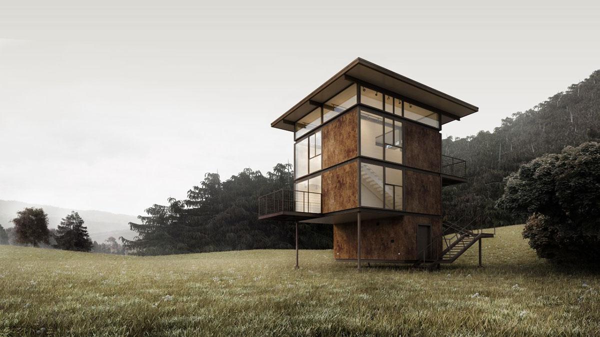 house Landscape corona 3dmax photoshop modern