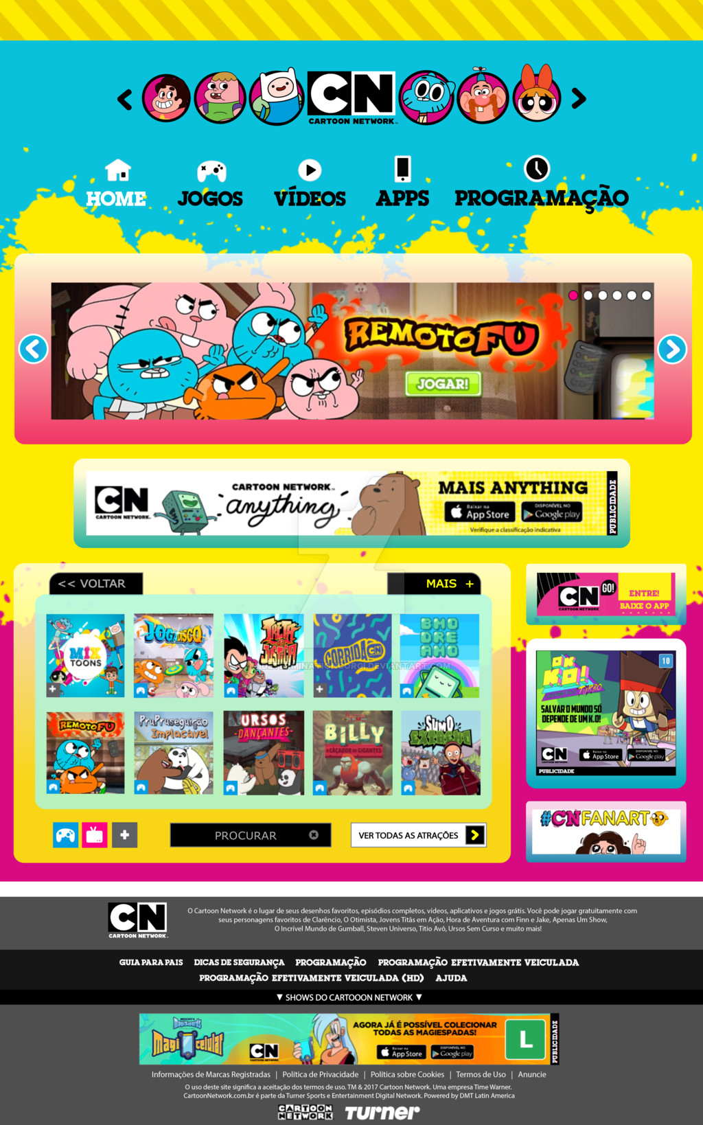Cartoon Network Website Re-Design on Behance