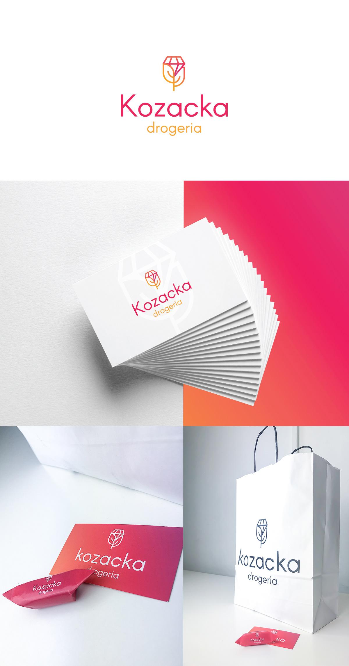 drugstore Online shop cosmetics brand Icon logo perfumery