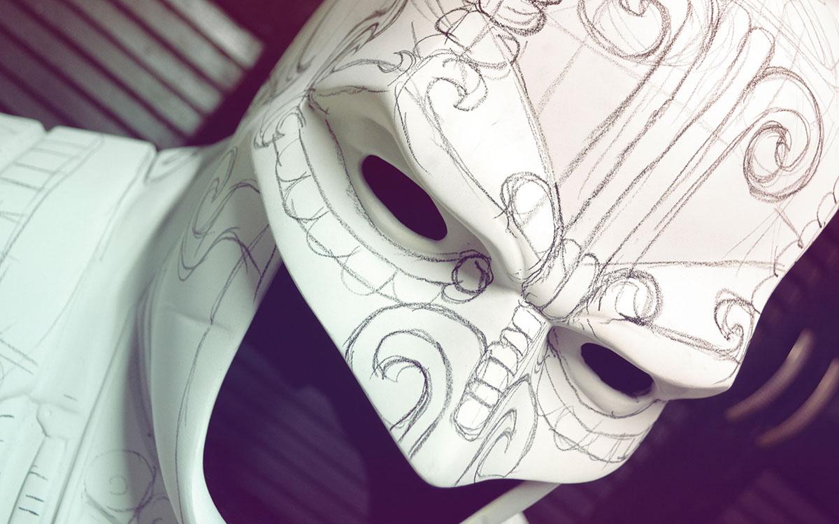 batman Maya mexico camazotz Mexican 3D fanart mayan sculpture