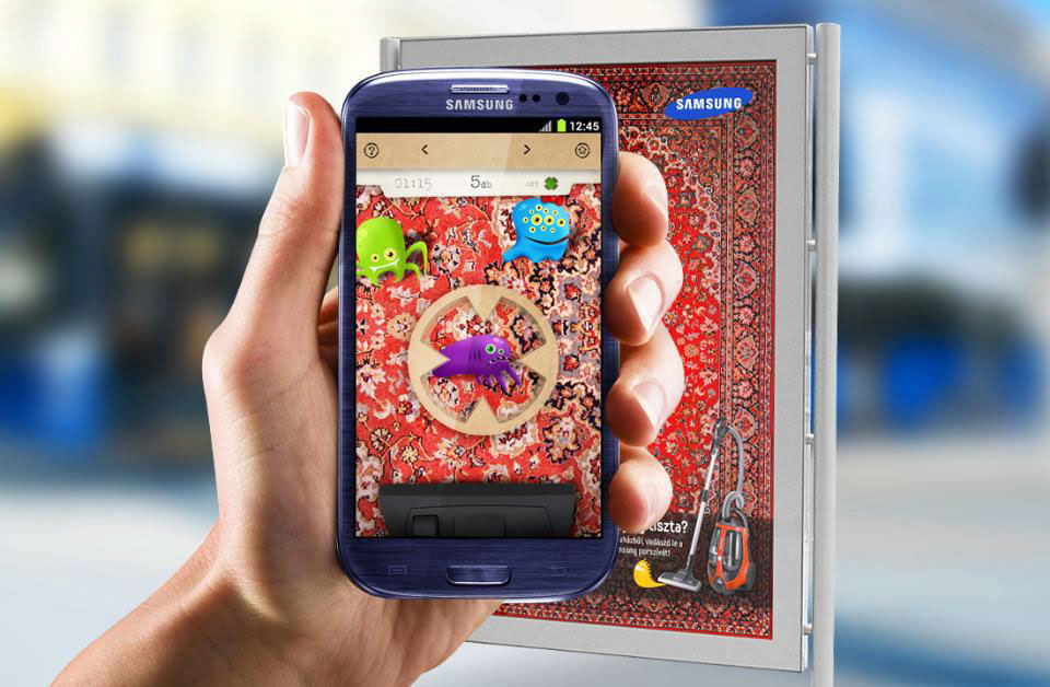 mobile app AR Samsung Hoover