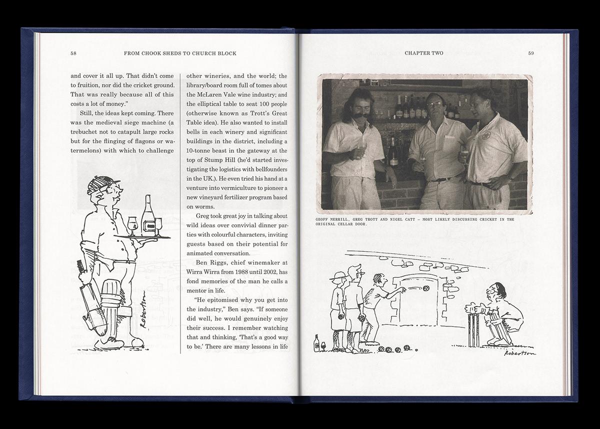 adventure bookmark Cricket hardbound history navy publication vintage wine wirra wirra