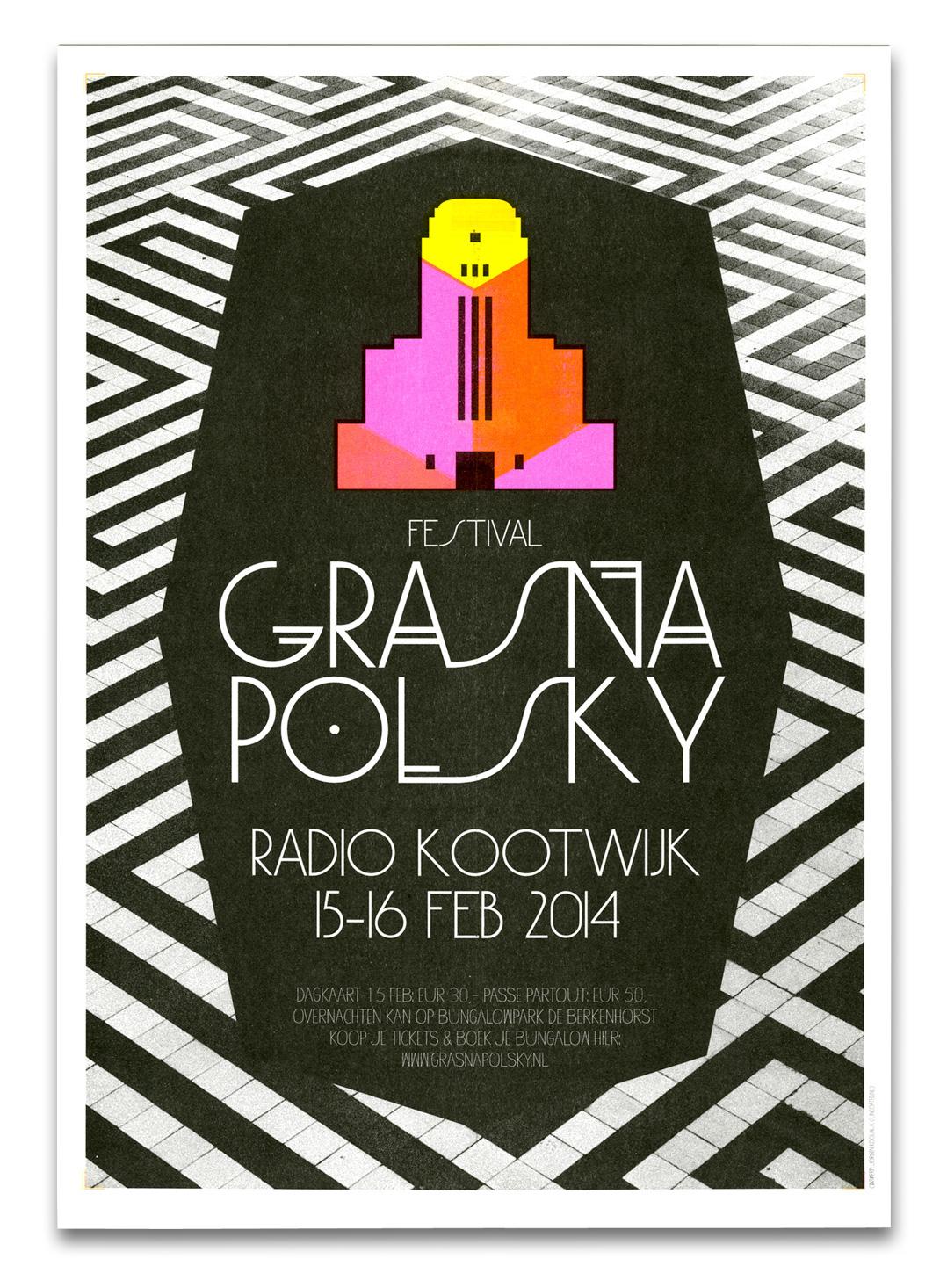 festival campaign risograph poster radiokootwijk graphic design