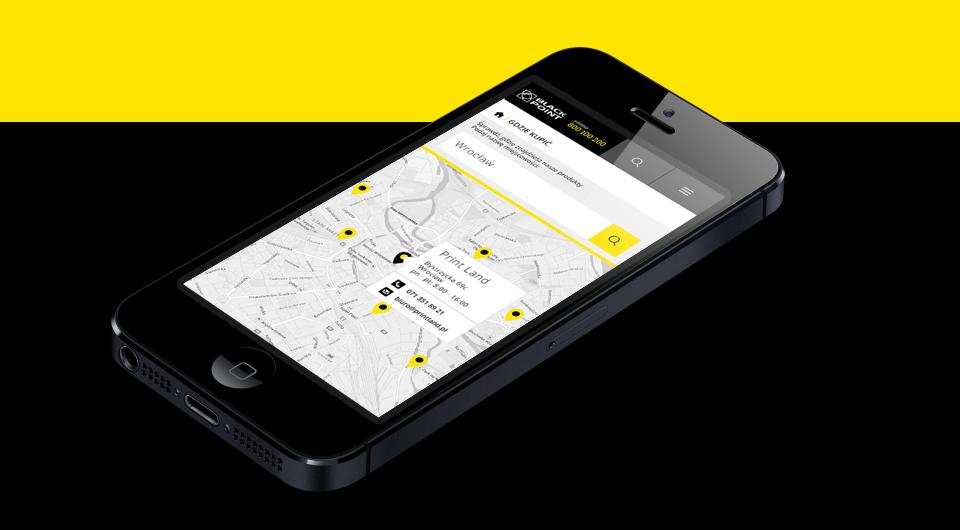 Responsive web design ideacto Black point design