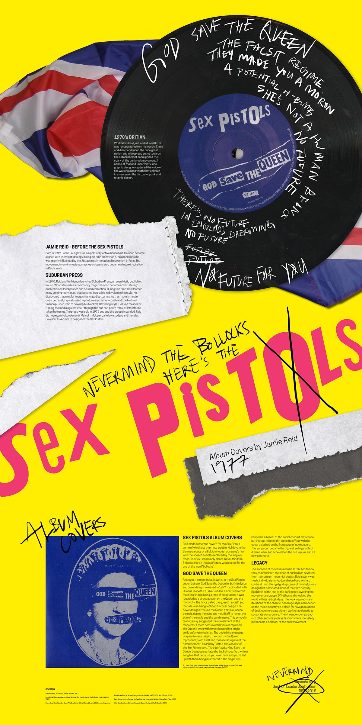 Sex Pistols Landmark Poster on Student Show