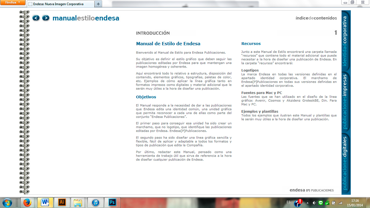 Web. Manual Estilo Endesa. on Behance