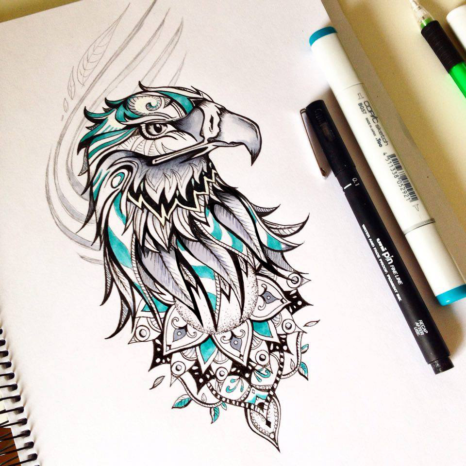 Eagle tattoo design on behance for Pictures of designs