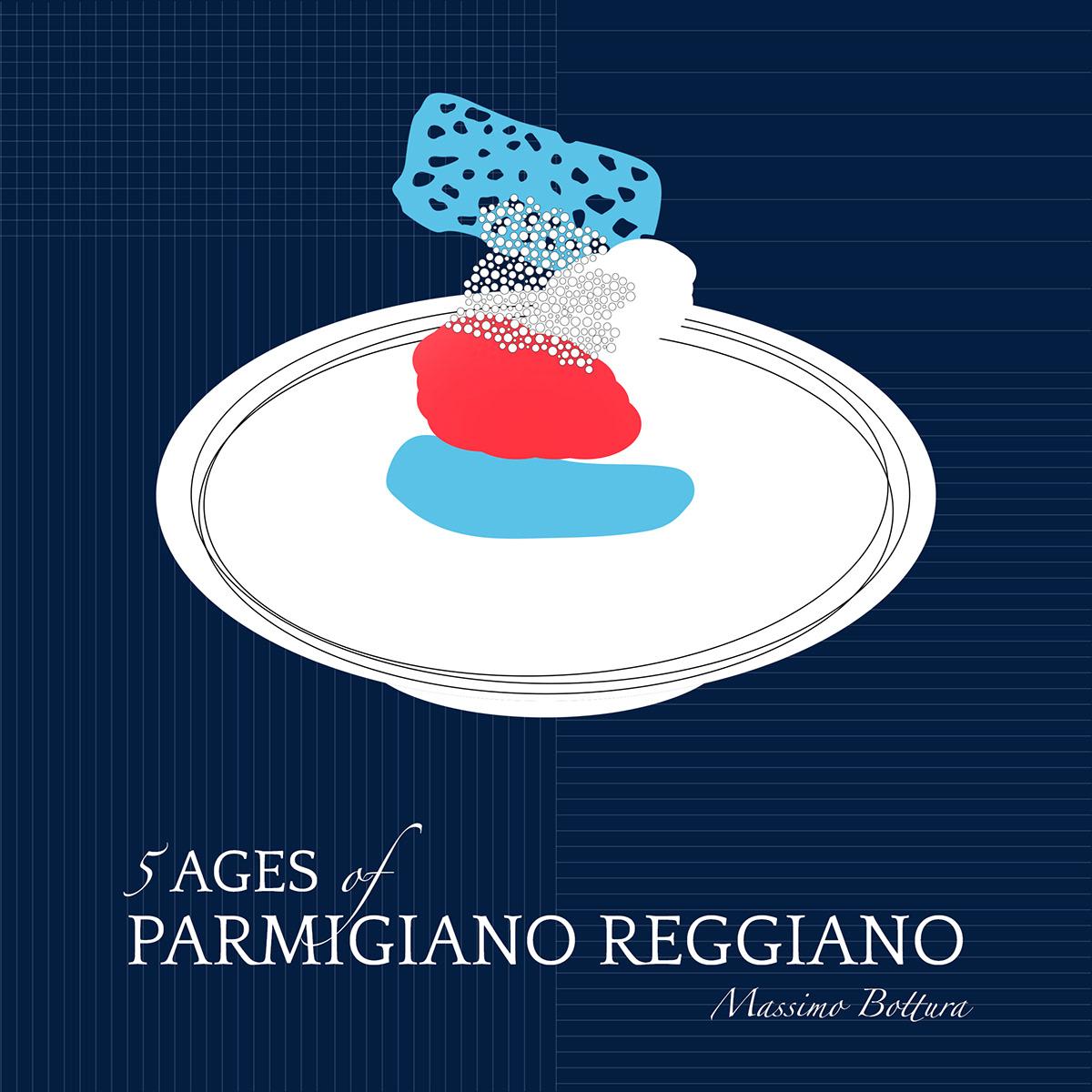 design Food  food illustrations ILLUSTRATION  instagram italian restaurant san pellegrino social menu