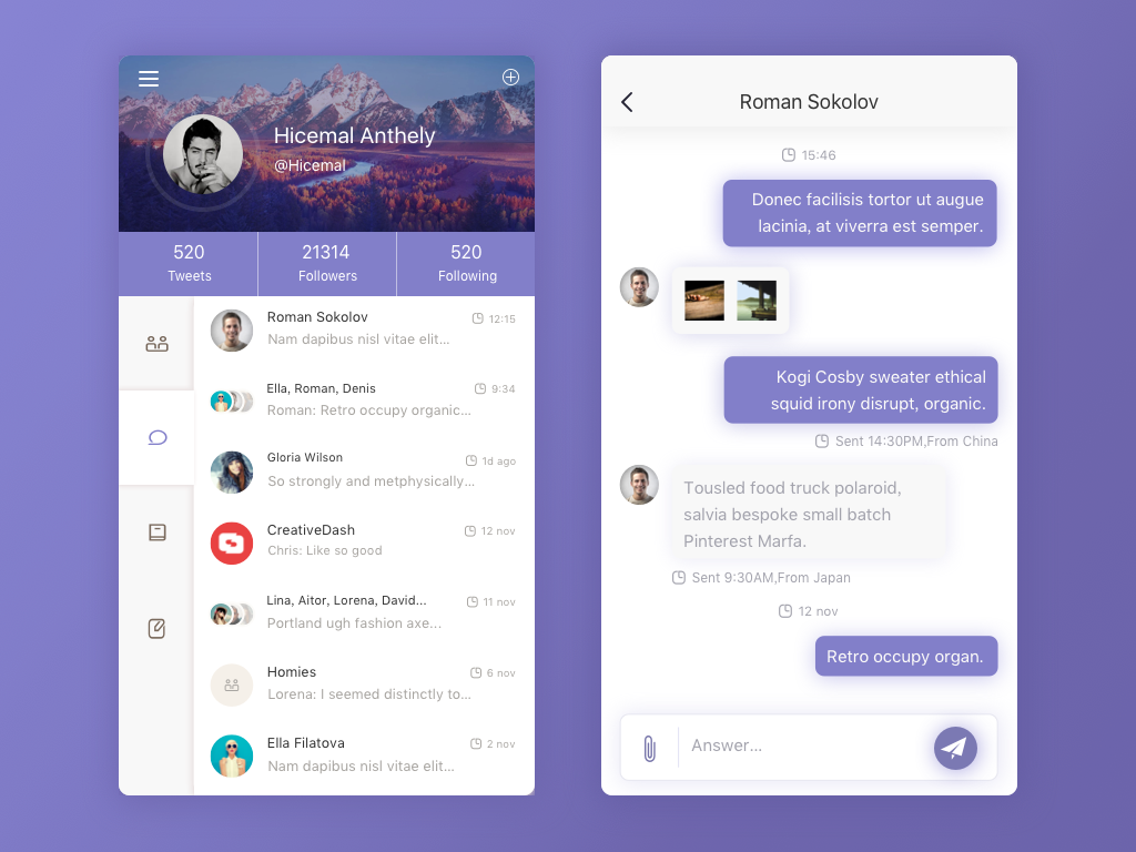 Daily ui 002 chat app page on behance for Who can design an app for me