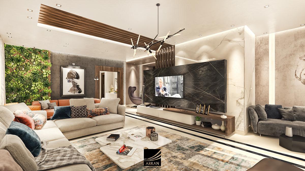 Cozy modern apartment on Behance