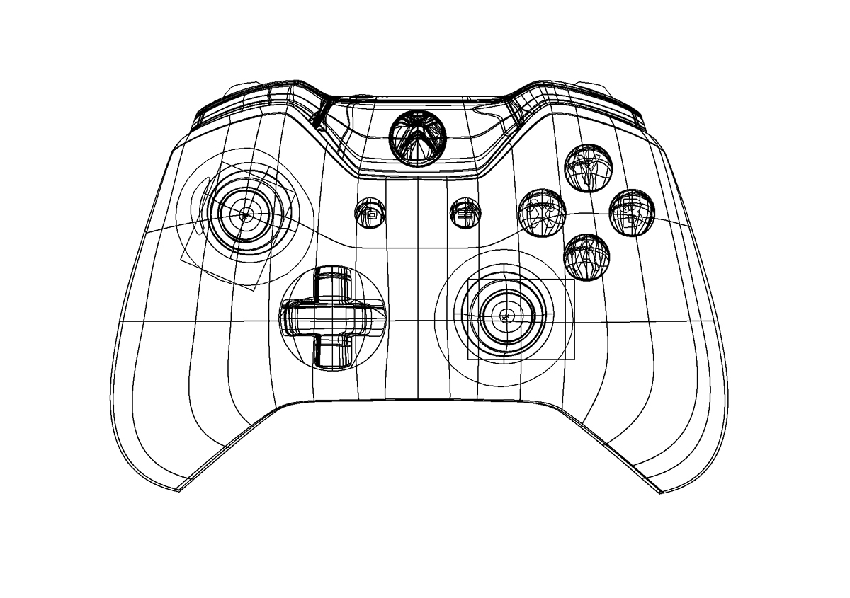 Xbox One Controller Gradient Mesh On Behance