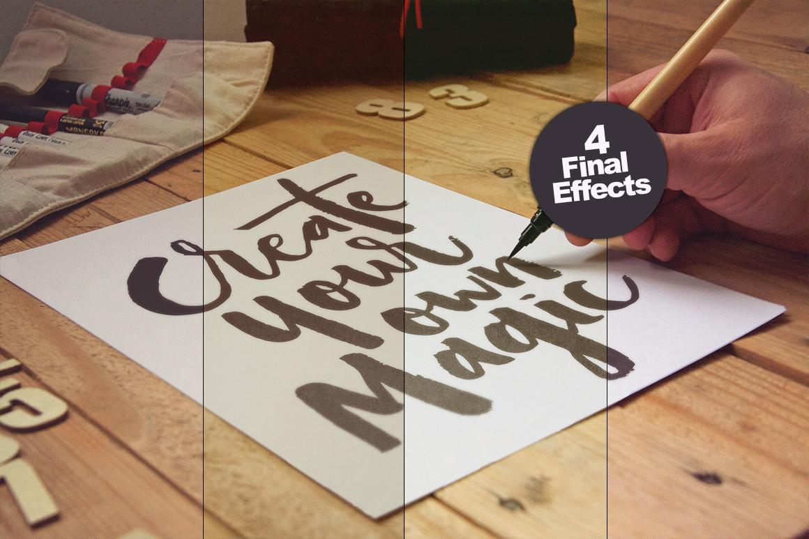 Mockup mock-up poster flyer sketch free freebie realistic photo wood