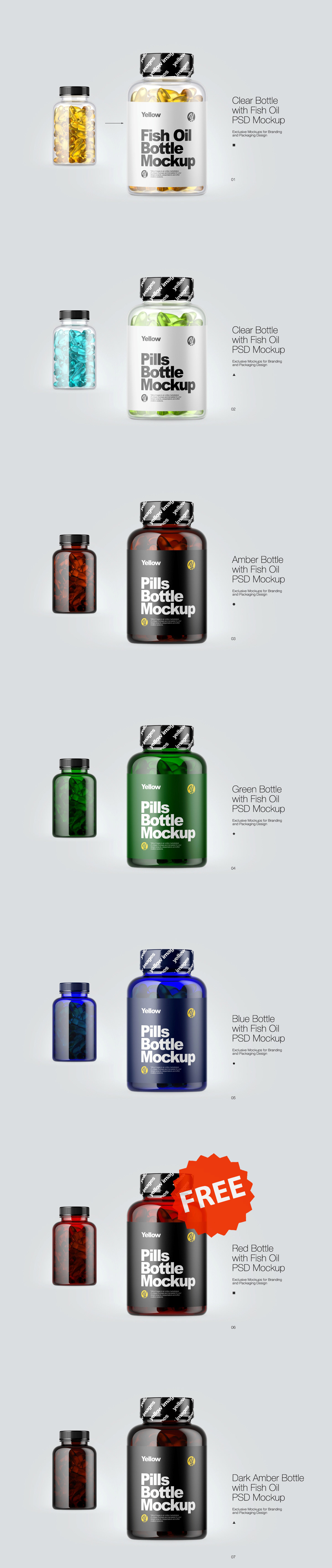 Download Pills Bottle Psd Mockups On Behance PSD Mockup Templates