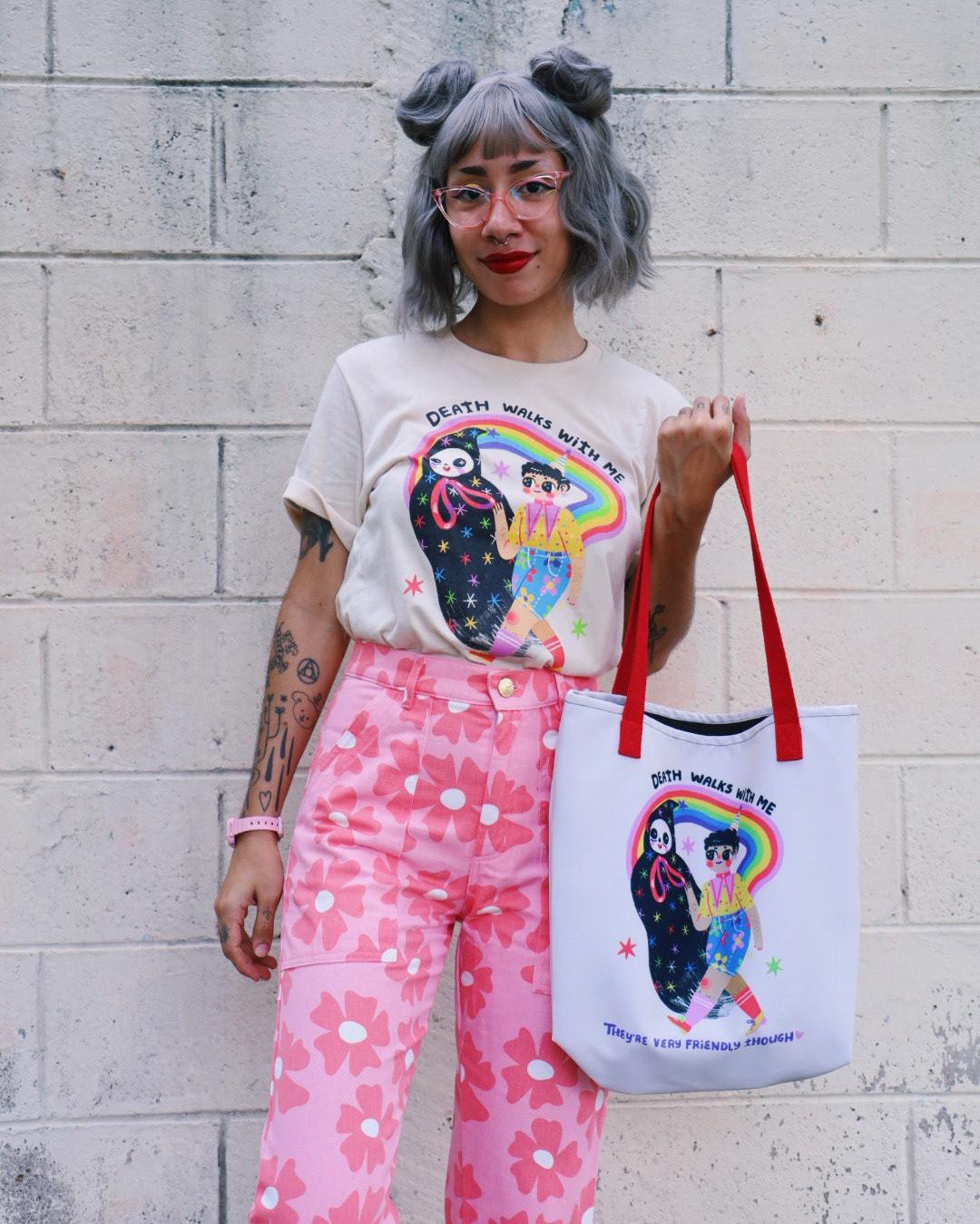 cute art death El Salvador Merch nonbinary queer art skull