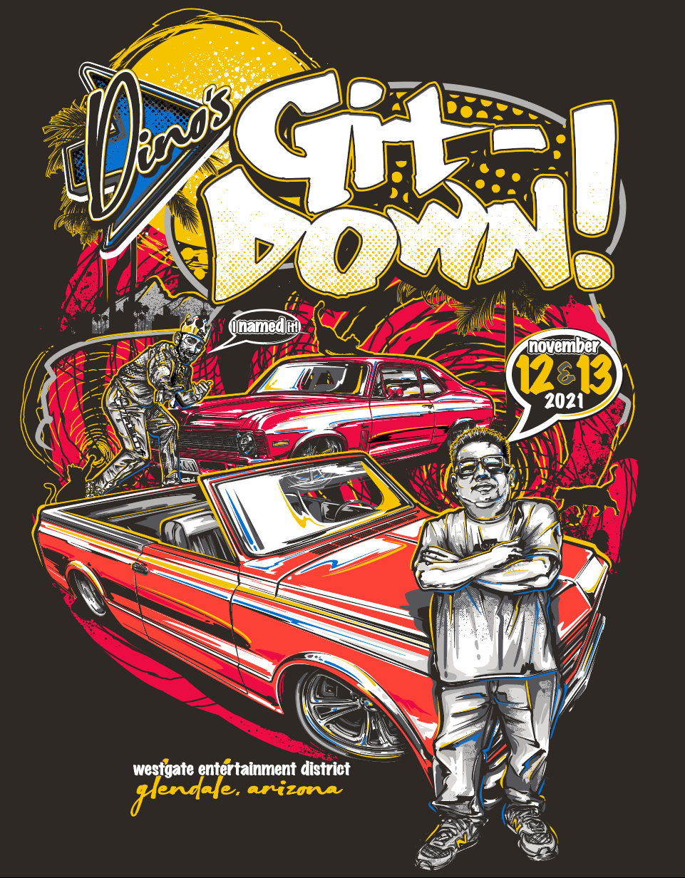 Vector illustration for t-shirt and poster designed by Brian Stupski