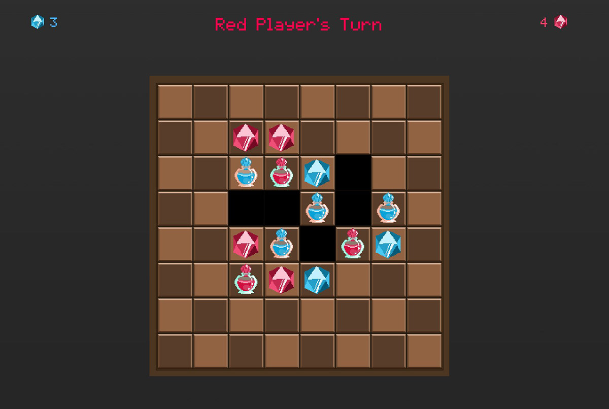 game Pixel art game design  animation  unity abstract strategy strategy board game multiplayer