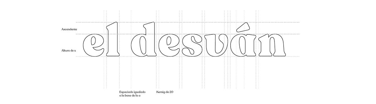 Image may contain: recoleta alt typography . Imagen de agencia de marketing el desvan, imagologo