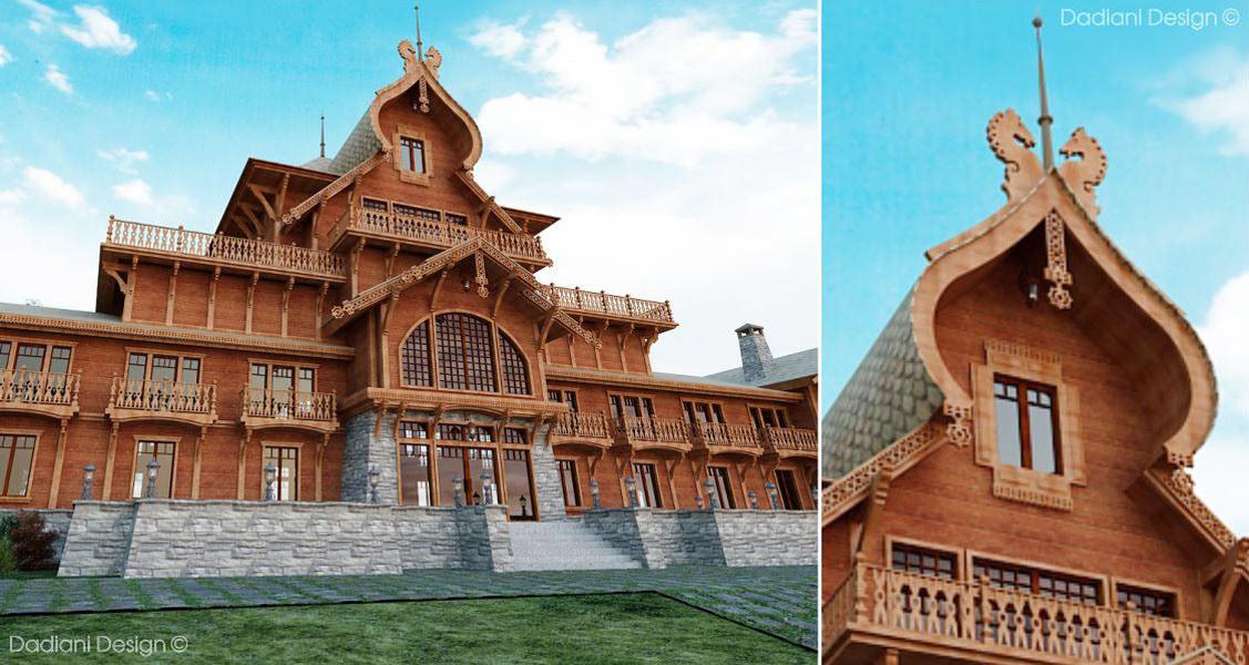 architecture ethnostyle hotel interior design  luxury modern oldfashion restaurant Russia Unique