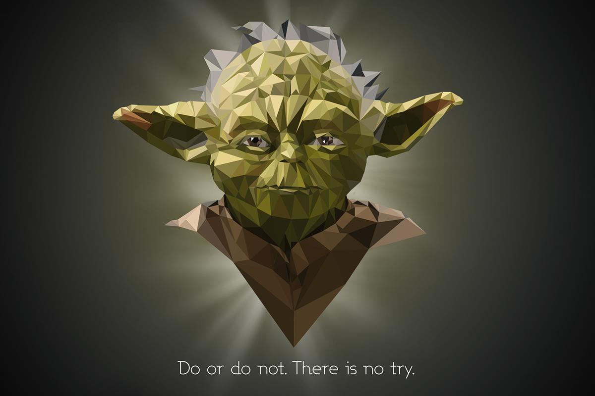 Célèbre Star Wars low poly portraits on Behance DQ09