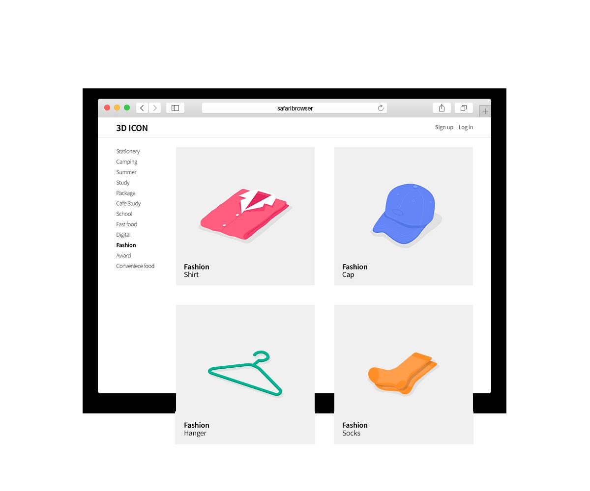 Icon Design _ 3D Fashion on Behance