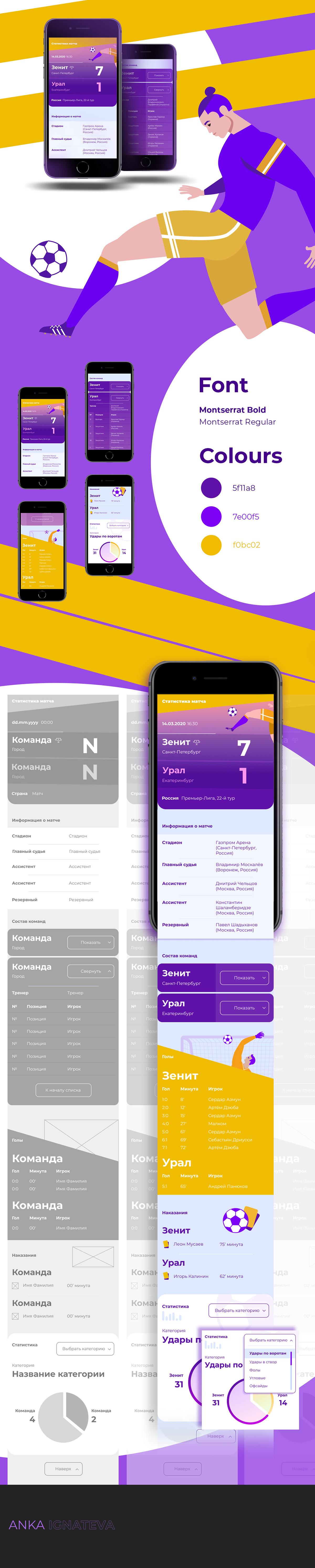 app Figma football UI ux ux/ui