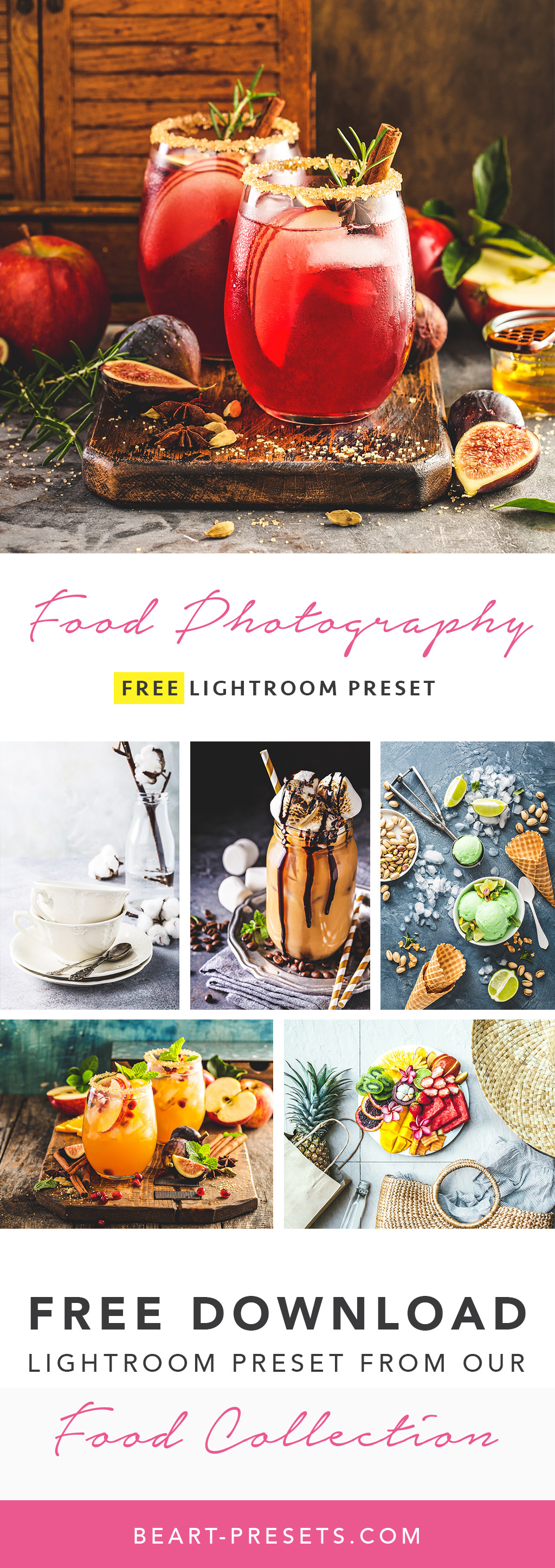 Free Food Photography Preset for Adobe Lightroom on Behance