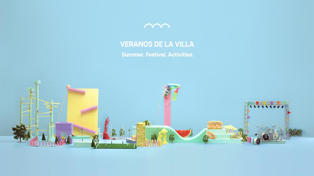 summer festival madrid spain Chain Reaction domino slide minimal still life craft handmade