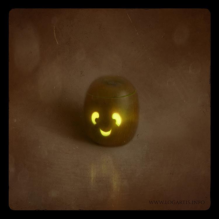 Halloween,fruits,cute,pumpkin,jack-o-lantern,lantern,logartis,carving,Coconut,apple