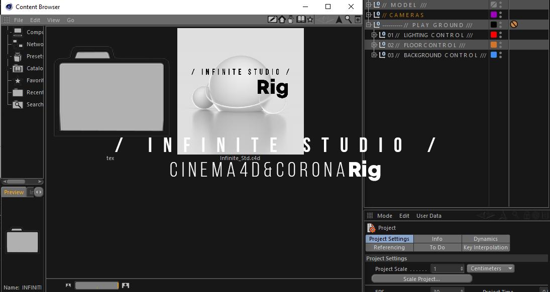 xpresso cinema4d rig lighting studio look