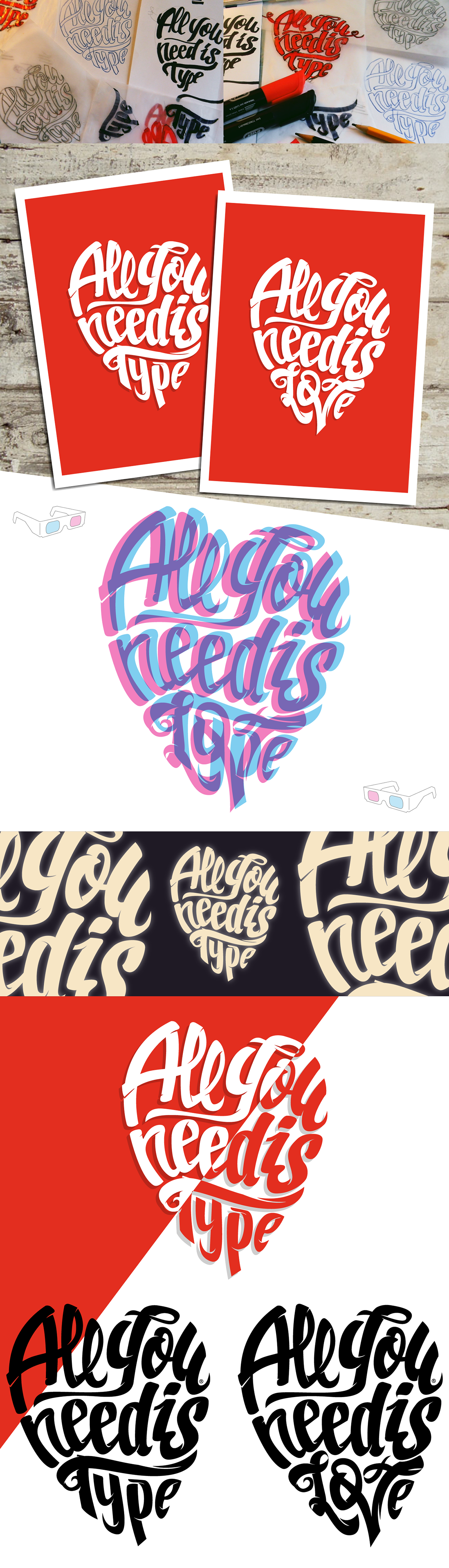 Love musica the Beatles logo color red lettering letters type loving foto amor pasion rojo