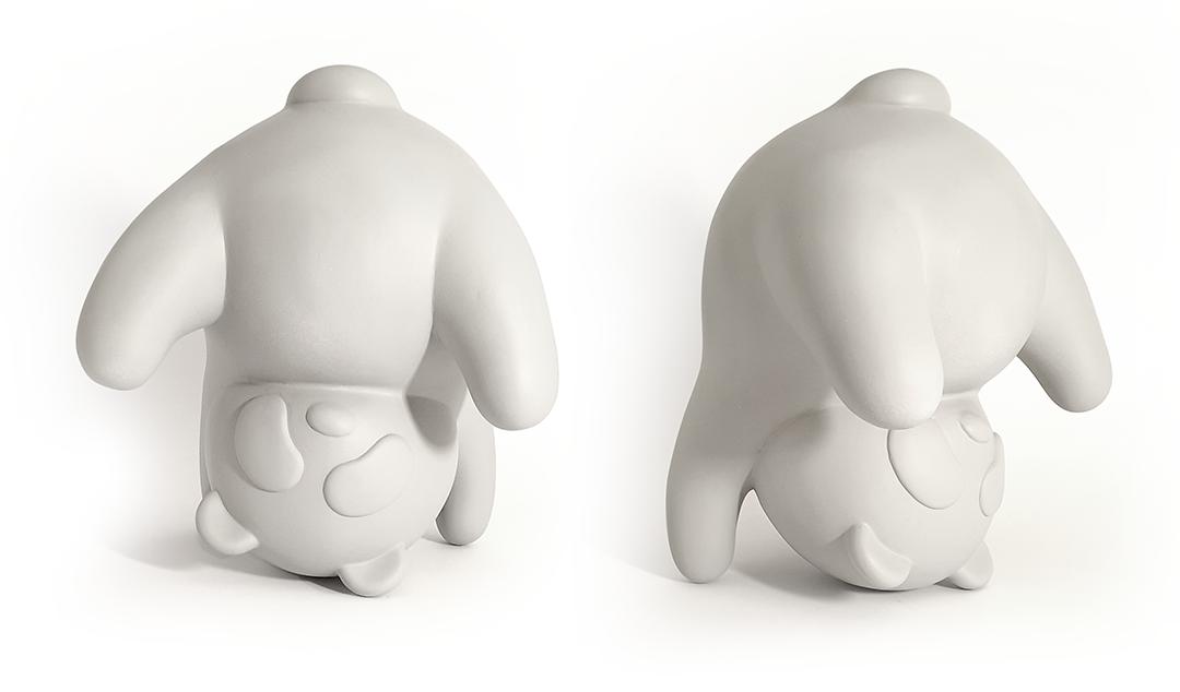 art Character contemporary art contemporary sculpture Panda  sculpture stainless steel