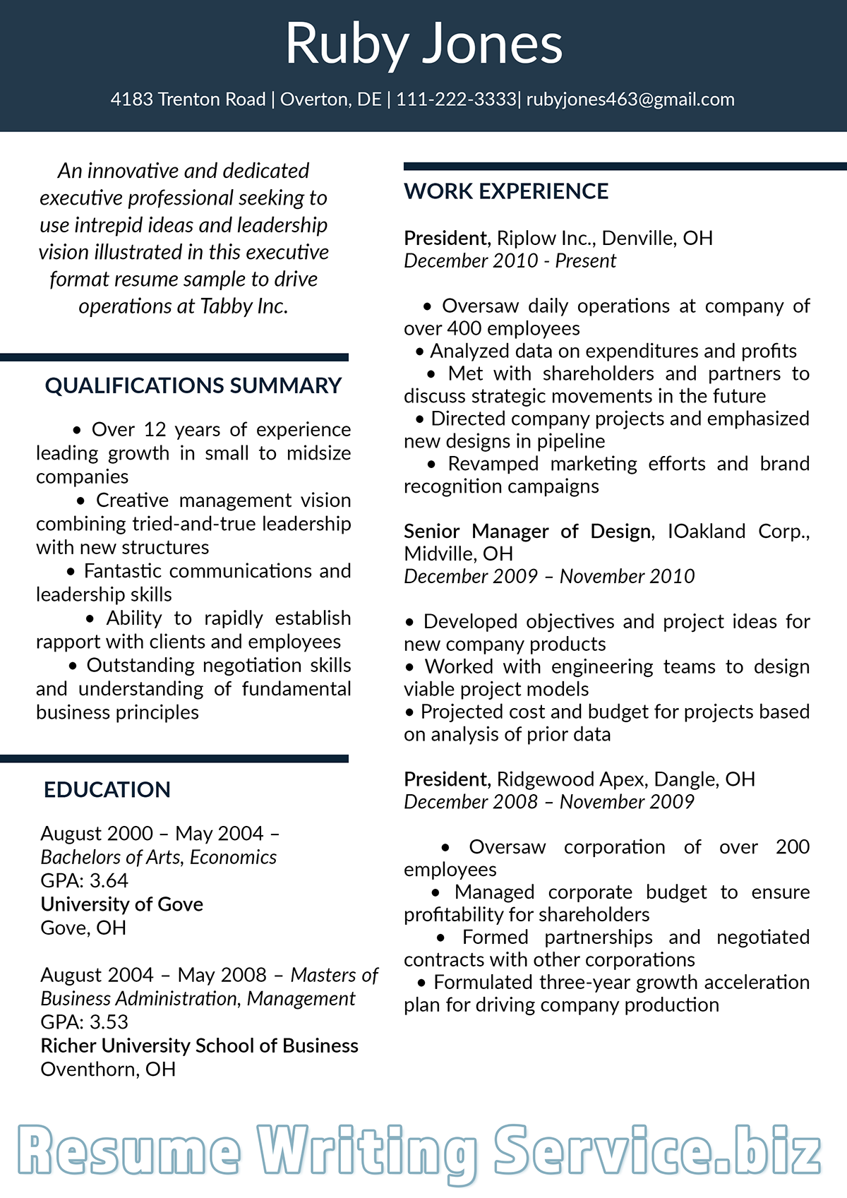 executive resume format 2019 on pantone canvas gallery