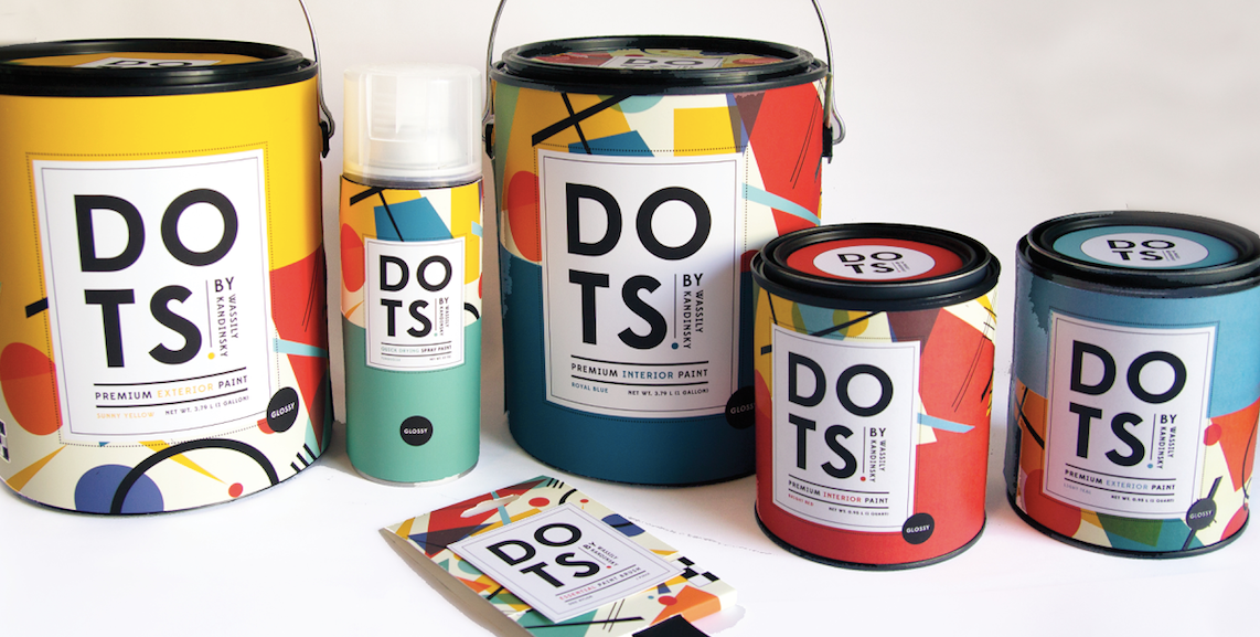 Dots Paint Can & Spray Paint Label Designed By Christine Herrin