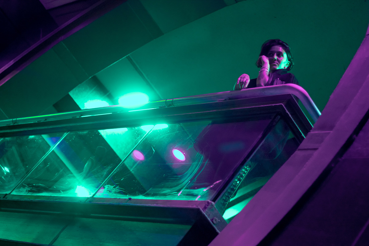 Adobe Portfolio color Cyberpunk neon portrait portrait